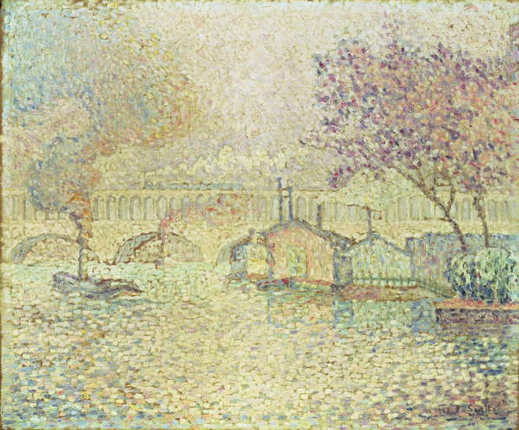 Detail of The Viaduct at Auteuil, c.1900 by Paul Signac
