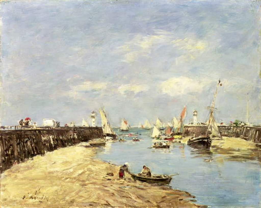 Detail of Trouville, the Jetty and the Basin, 1896 by Eugene Louis Boudin