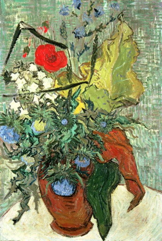 Detail of Bouquet of Wild Flowers by Vincent van Gogh