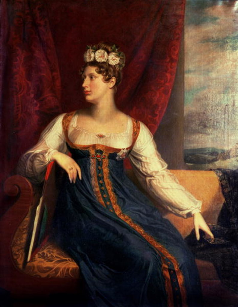 Detail of Portrait of Princess Charlotte Augusta of Wales by George Dawe
