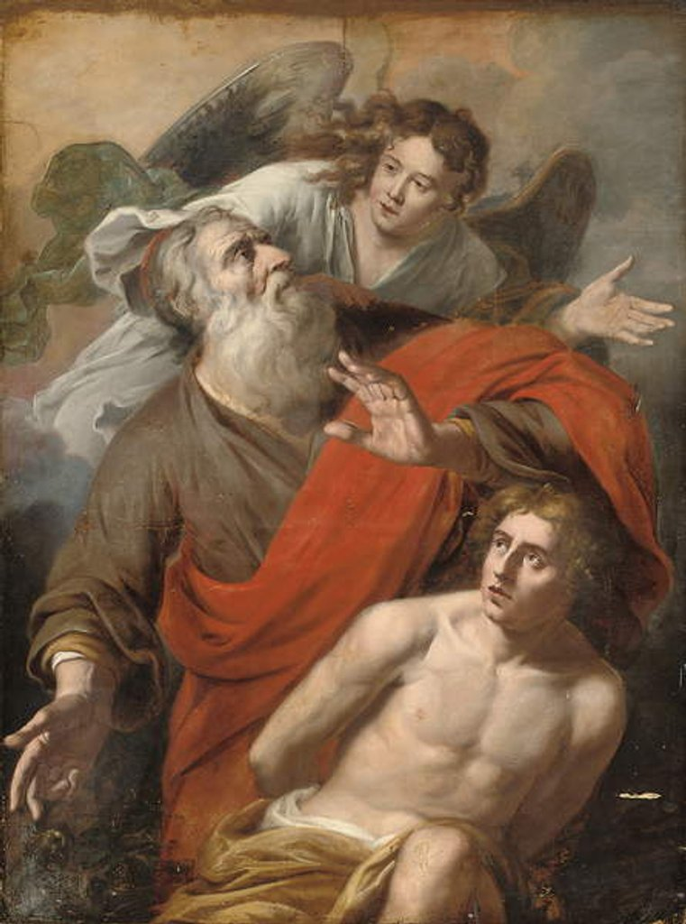 Detail of The Sacrifice of Isaac by Constantin Verhout or Voorhout
