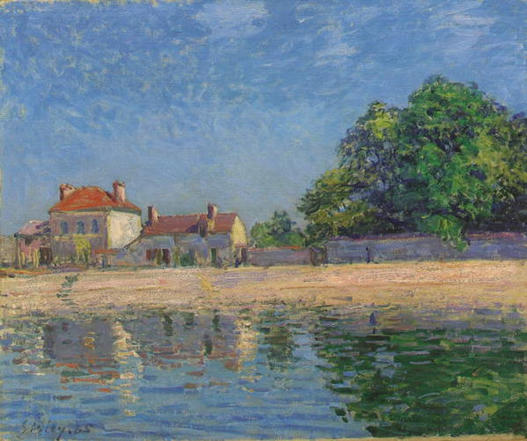 Detail of Bords du Loing, Saint-Mammes, 1885 by Alfred Sisley