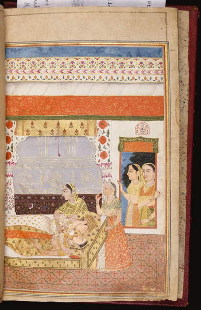 Detail of A Hindu love story of Manshar and Madh, c.1730 by Deccani School