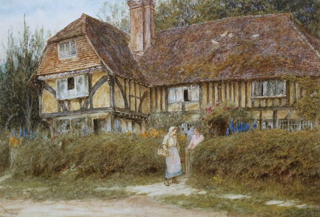 Detail of A Kentish Cottage by Helen Allingham