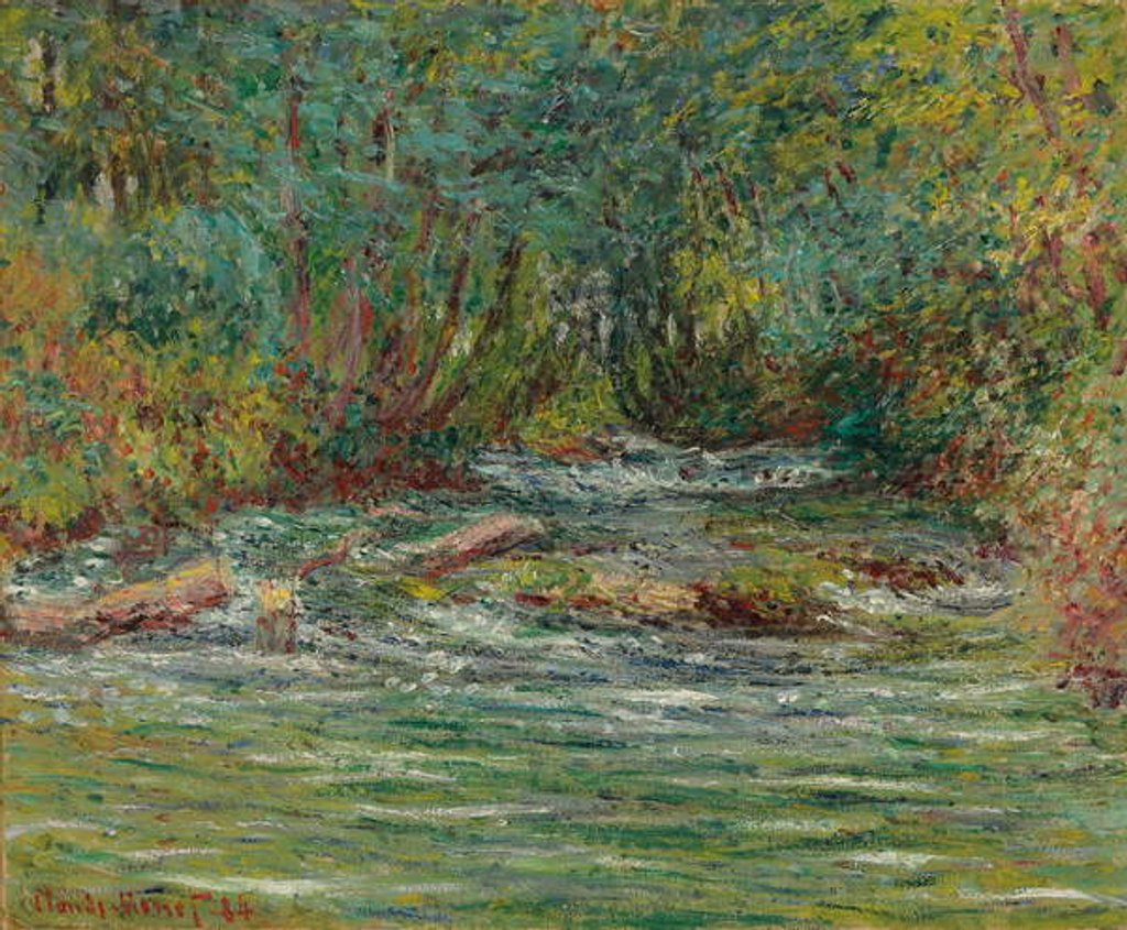 Detail of The River Epte at Giverny, Summer by Claude Monet
