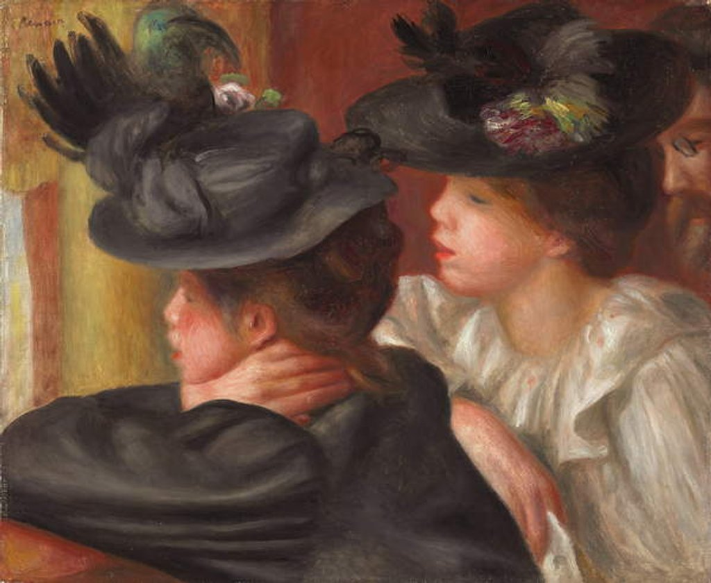 Detail of The Theatre Box by Pierre Auguste Renoir