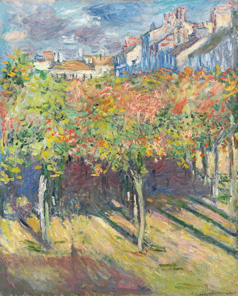 Detail of The Lime Trees at Poissy by Claude Monet