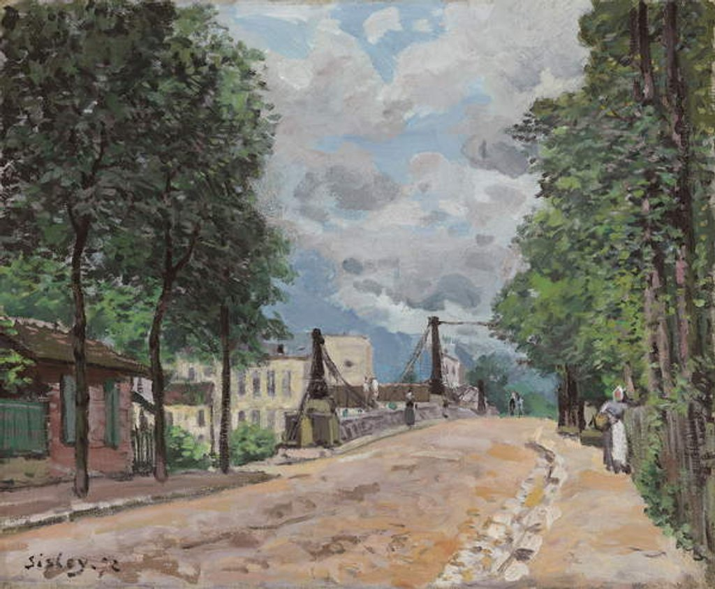 Detail of The Road of Gennevilliers by Alfred Sisley