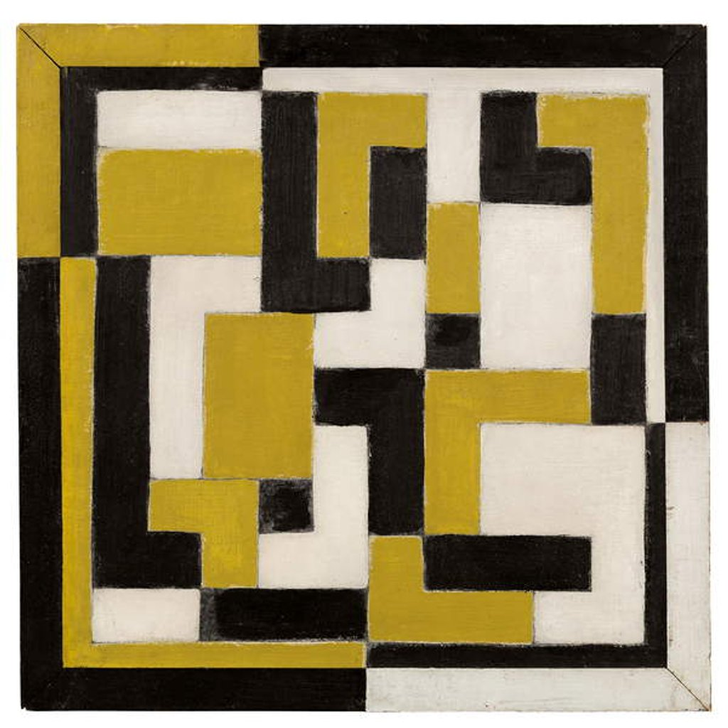 Detail of Composition, 1917-1918 by Theo van Doesburg