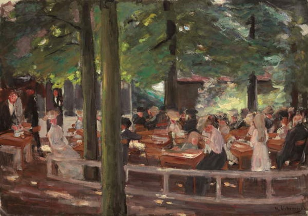 Detail of Beer Garden in Laren, Study by Max Liebermann