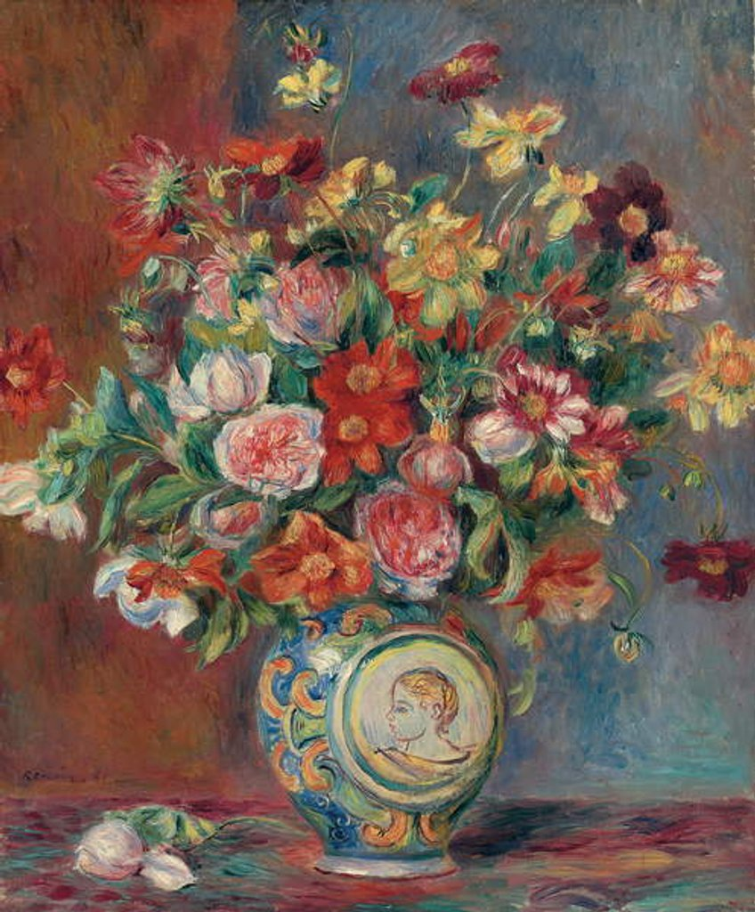 Detail of Vase with Flowers by Pierre Auguste Renoir