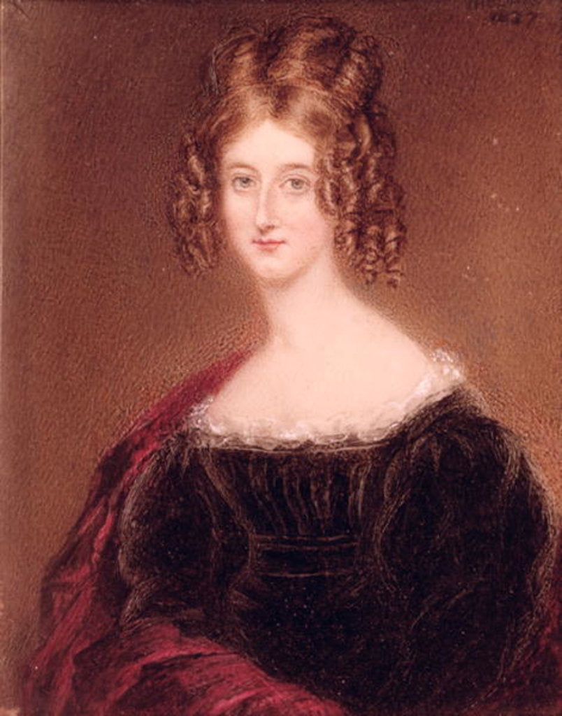Detail of Augusta Leigh, Byron's Sister by English School