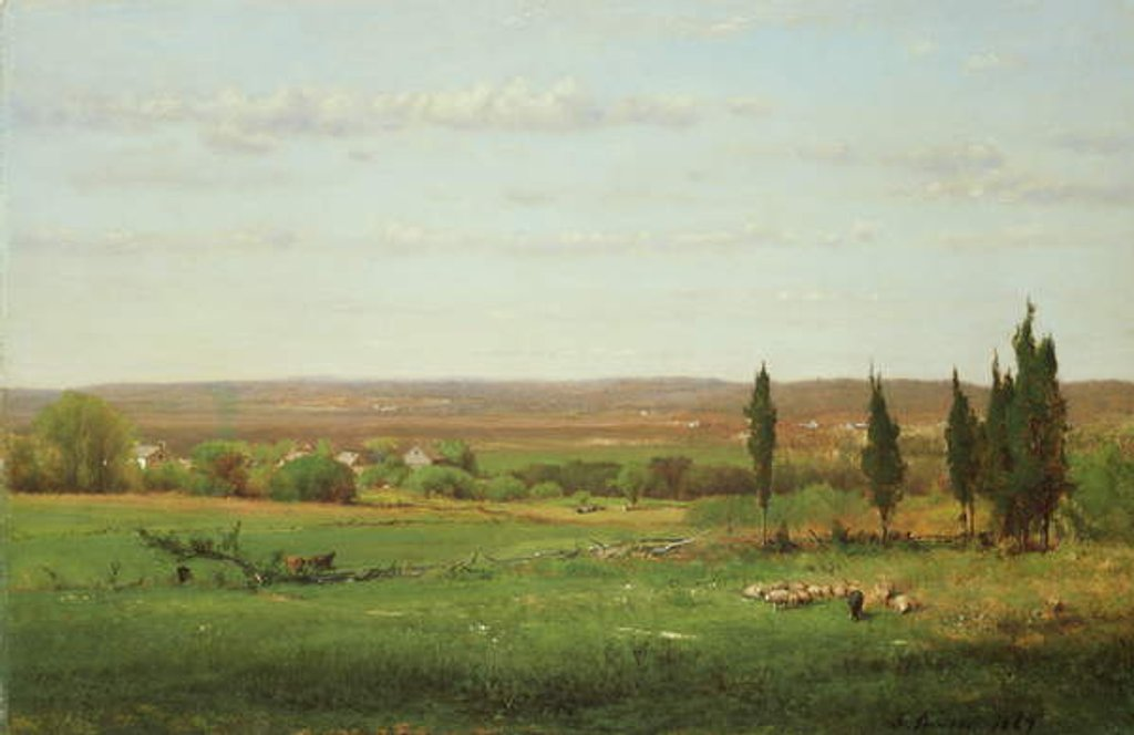 Detail of Near Eagleswood, 1869 by George Snr. Inness