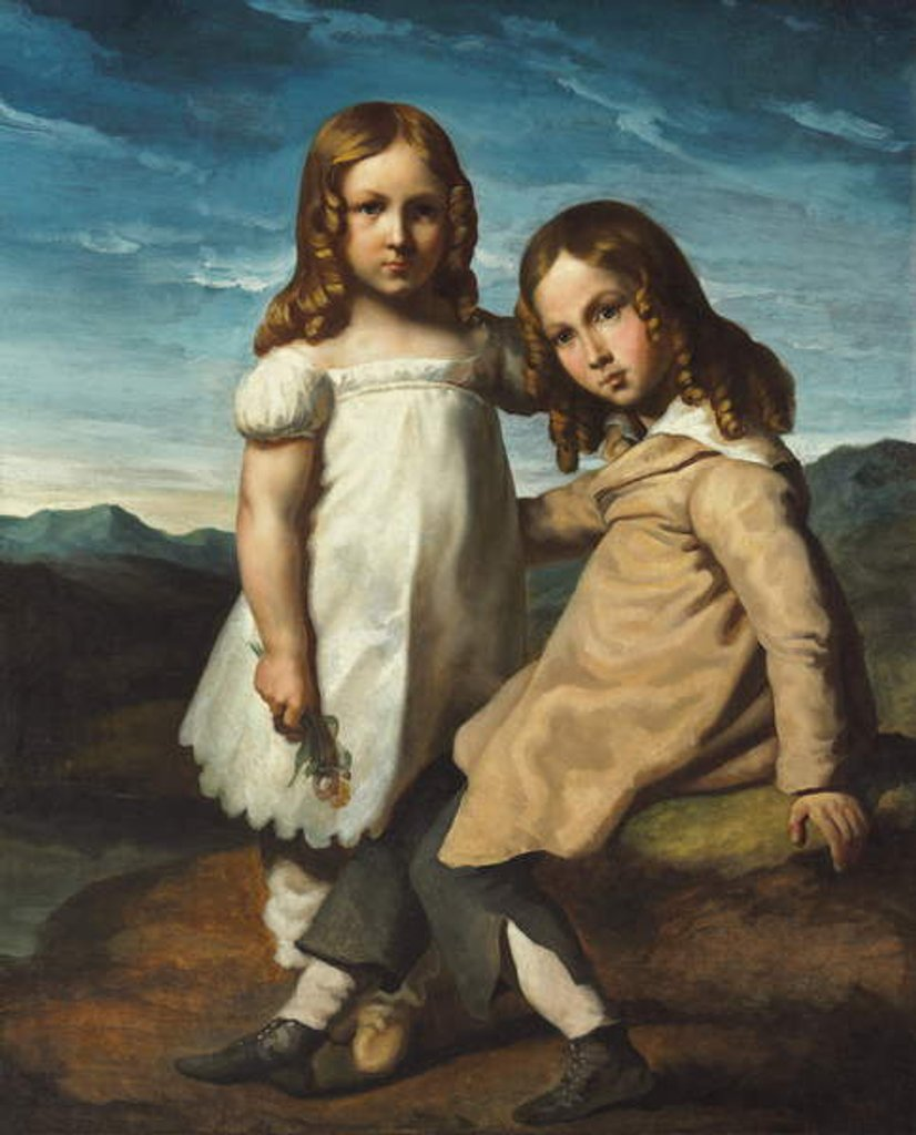 Detail of Portrait of Alfred and Elisabeth Dedreux, c.1818 by Theodore Gericault