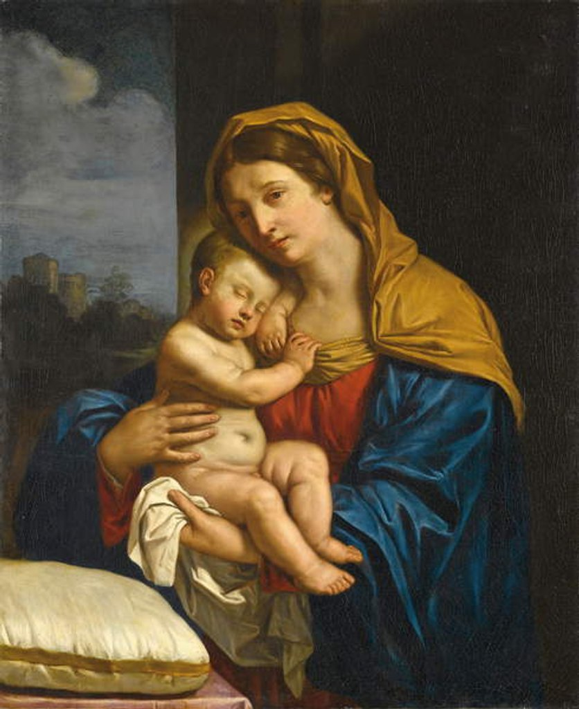 Detail of Madonna and Child by Guercino