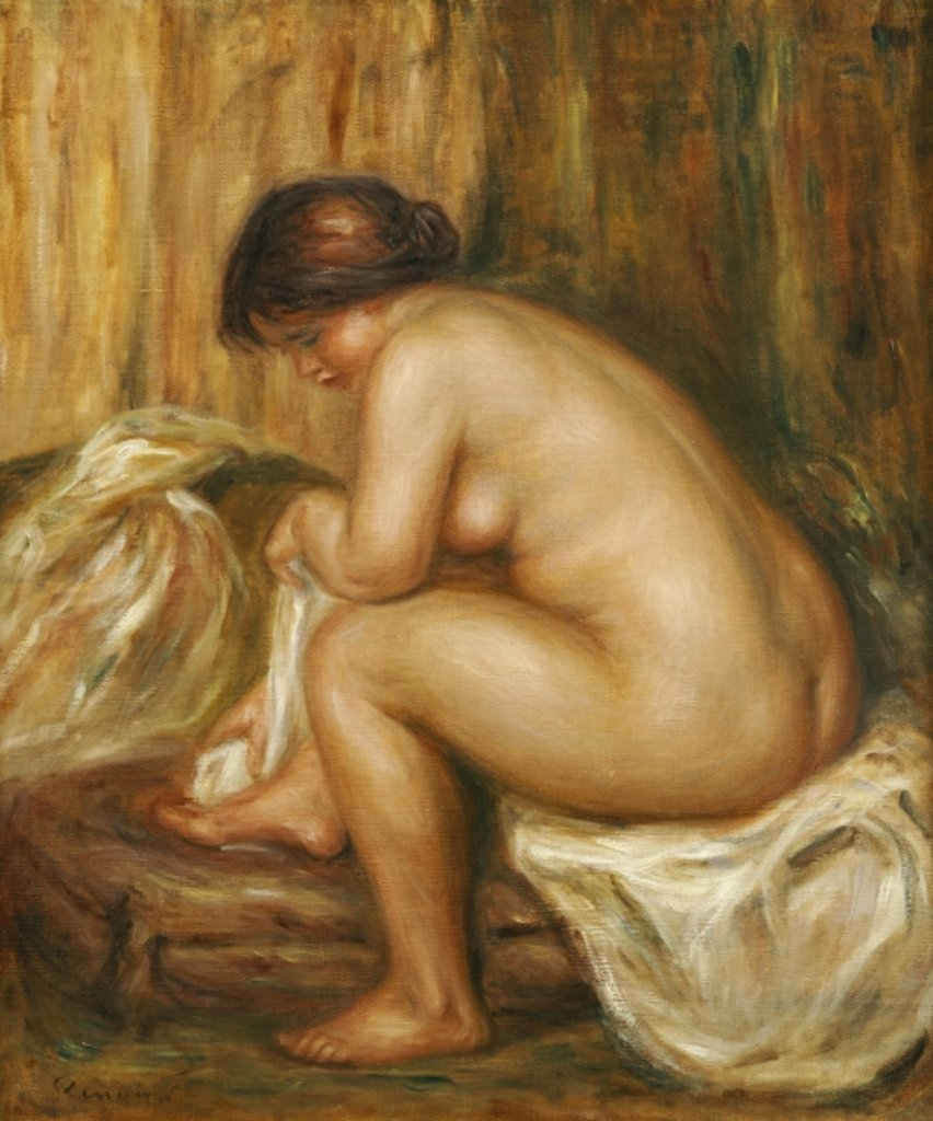 Detail of After the Bath, c.1900 by Pierre Auguste Renoir