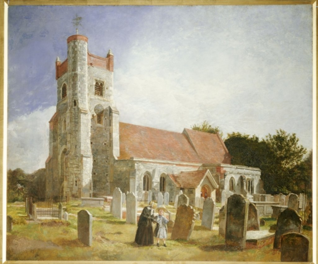 Detail of The Old Church, Ewell, 1847 by William Holman Hunt