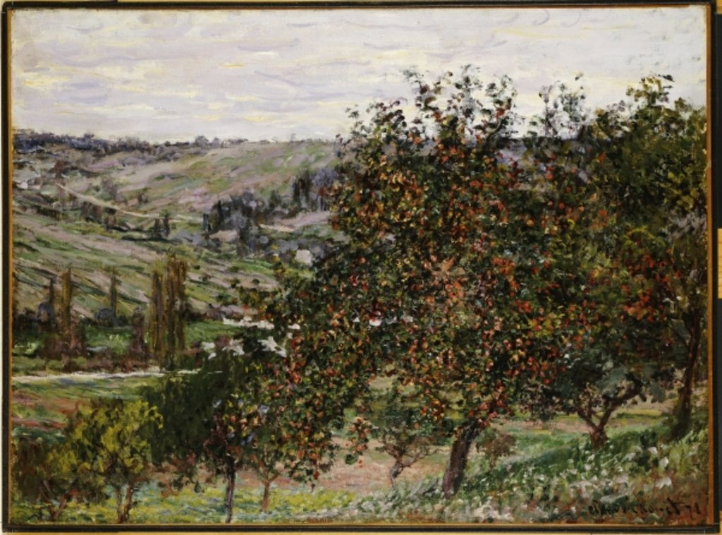 Detail of Apple Trees near Vetheuil by Claude Monet