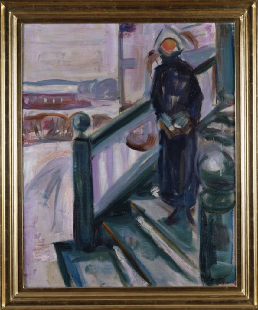 Detail of Woman on the Veranda by Edvard Munch