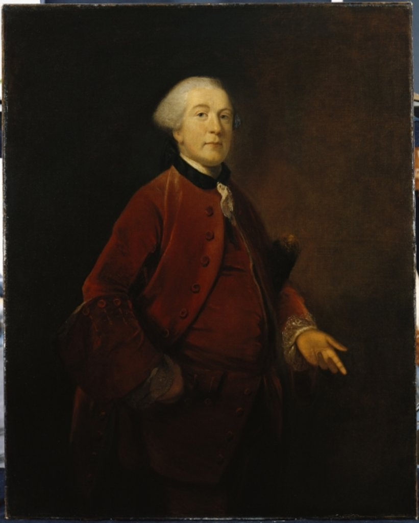 Portrait of George Ashby, standing, three-quarter length, wearing a jacket and waistcoat