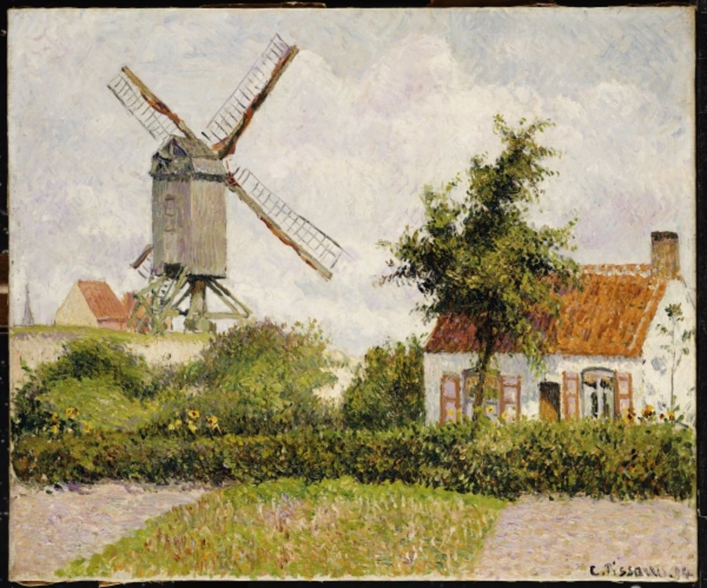 Detail of Windmill at Knokke, Belgium, 1894 by Camille Pissarro