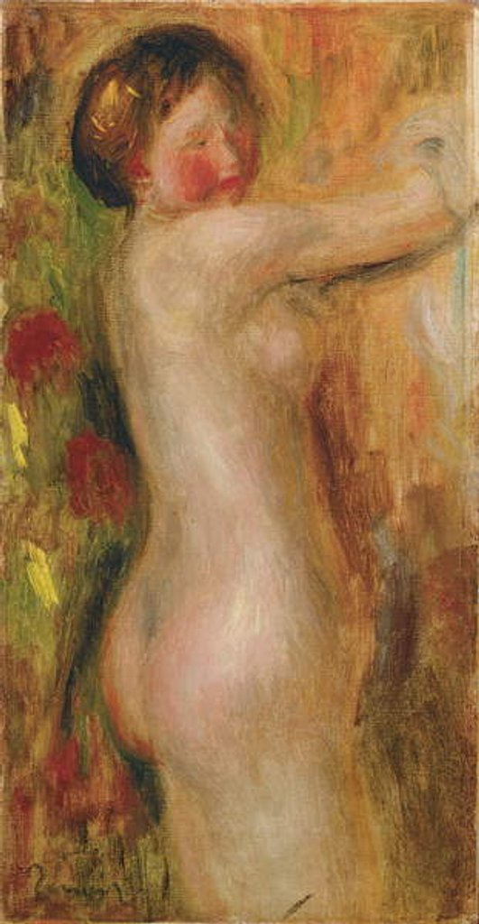 Detail of Nude with raised arm by Pierre Auguste Renoir