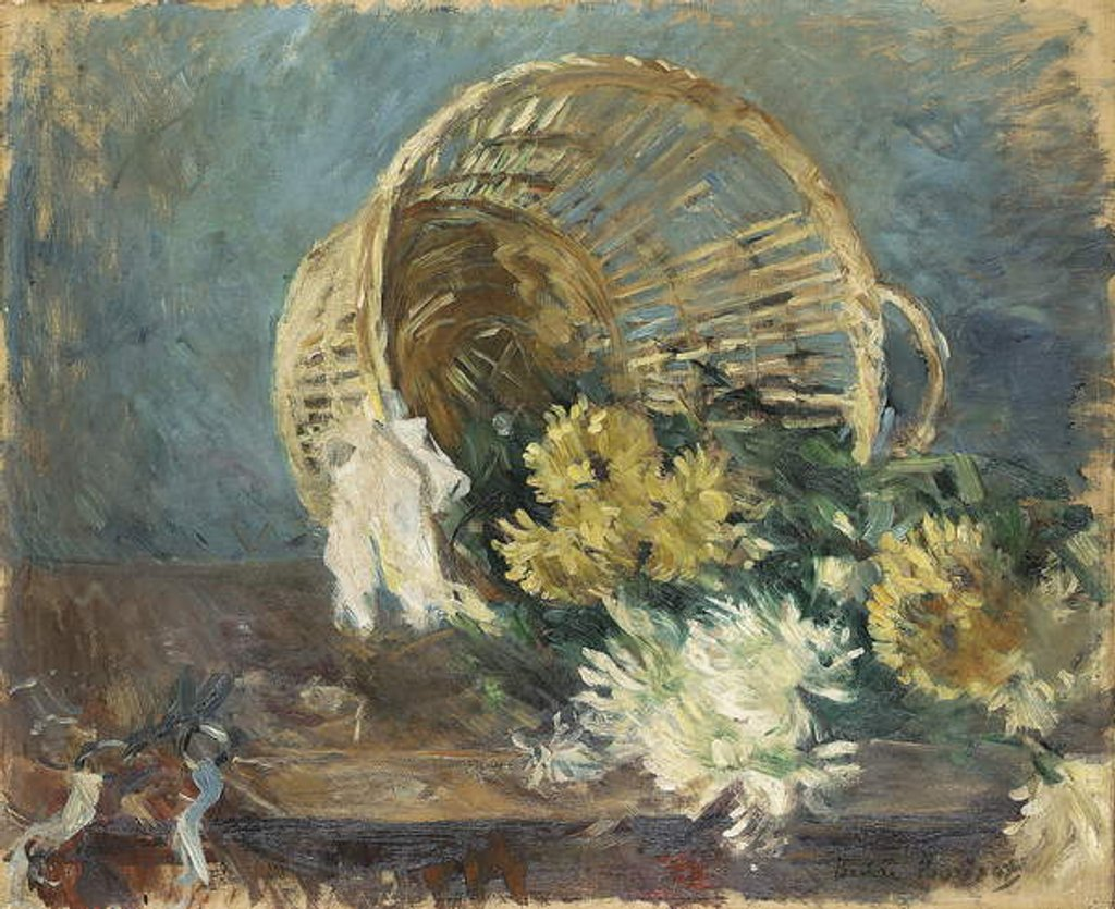 Detail of Chrysanthemums or The Overturned Basket, 1885 by Berthe Morisot