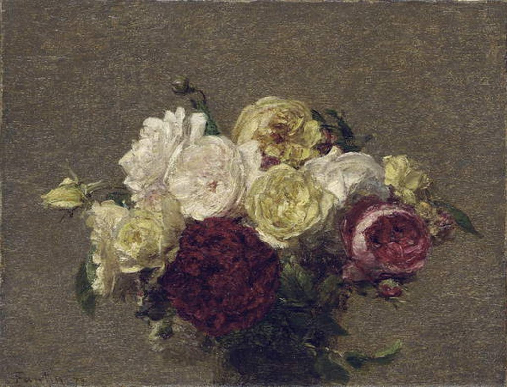 Detail of Bouquet of Roses, 1879 by Ignace Henri Jean Fantin-Latour