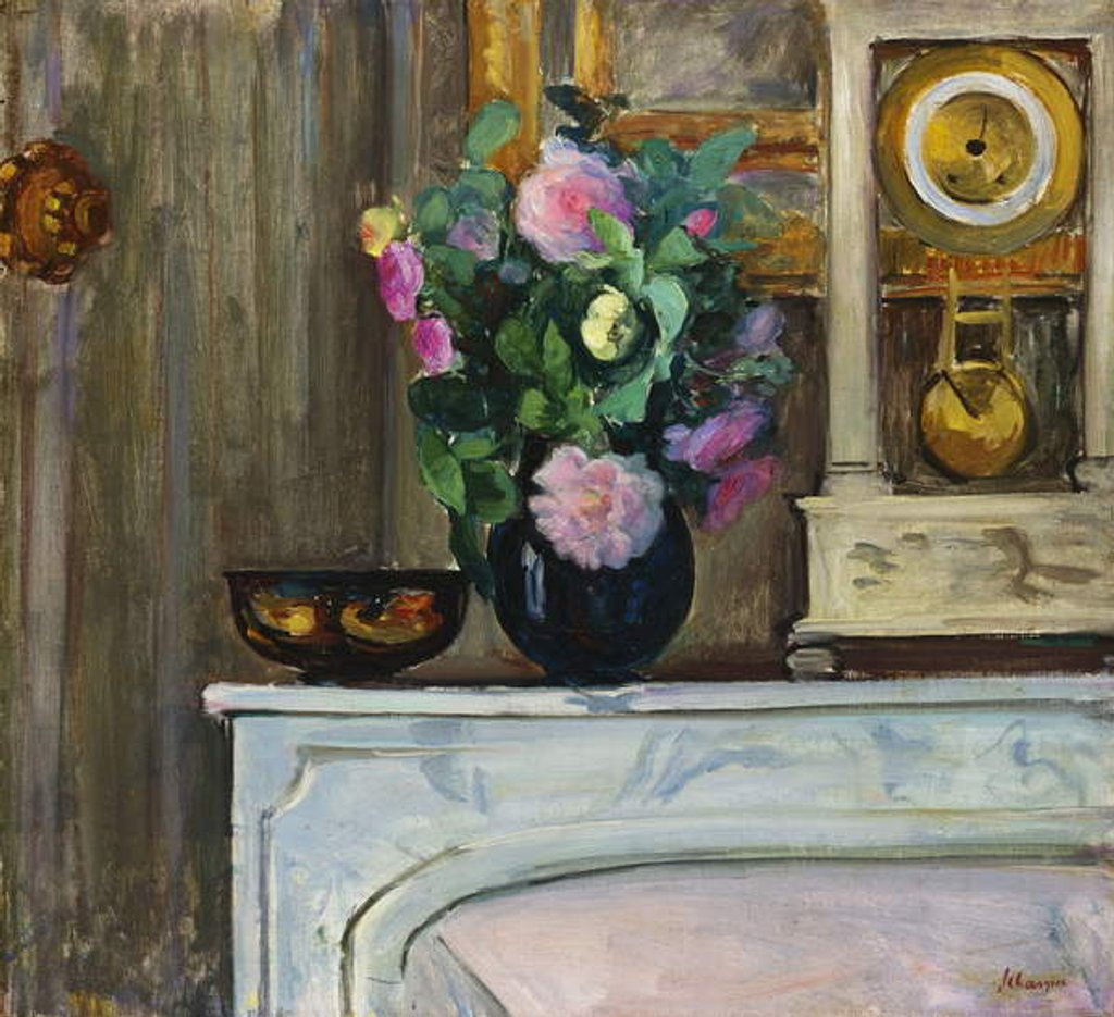 Detail of Bouquet of Flowers on the Fireplace, 1920 by Henri Lebasque