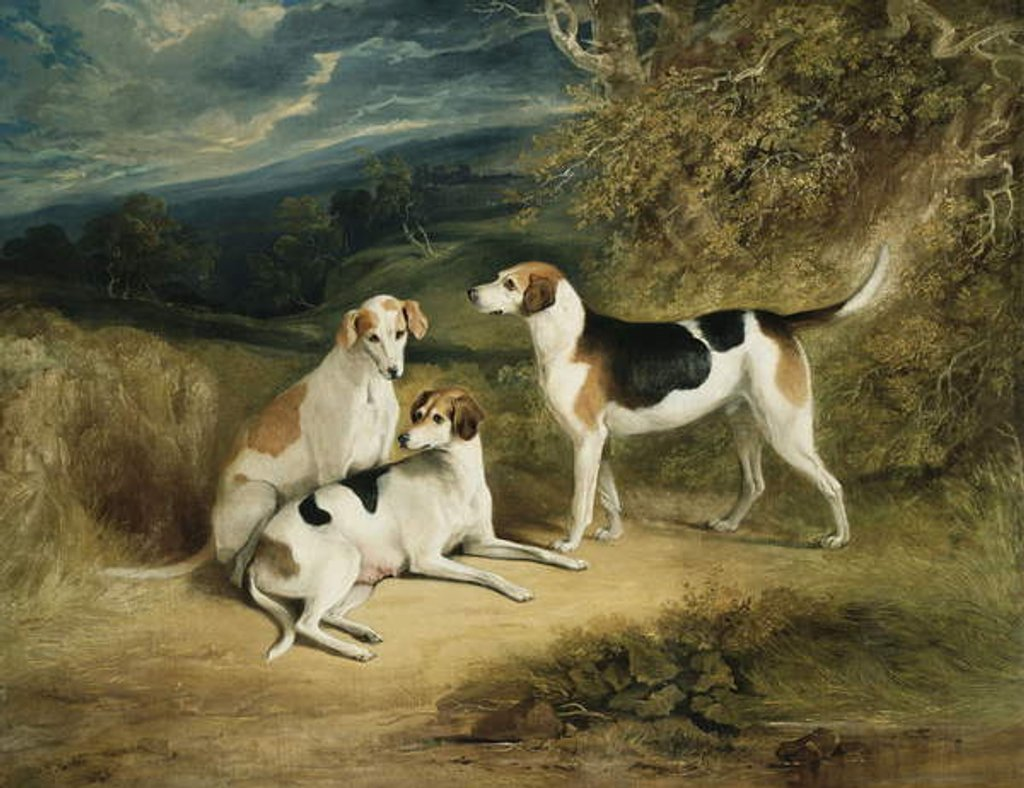 Detail of The Duke of Rutland's Hounds with Belvoir Castle in the Distance, 1828 by Henry Perlee Parker