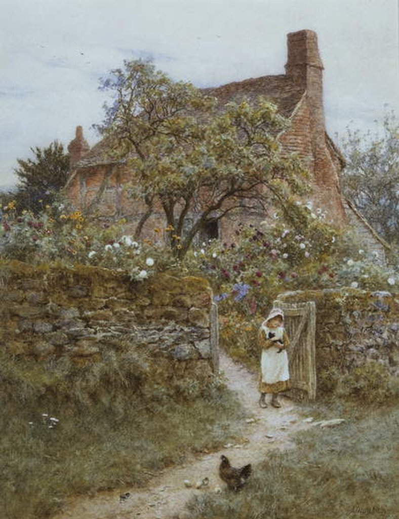 Detail of The Black Kitten by Helen Allingham