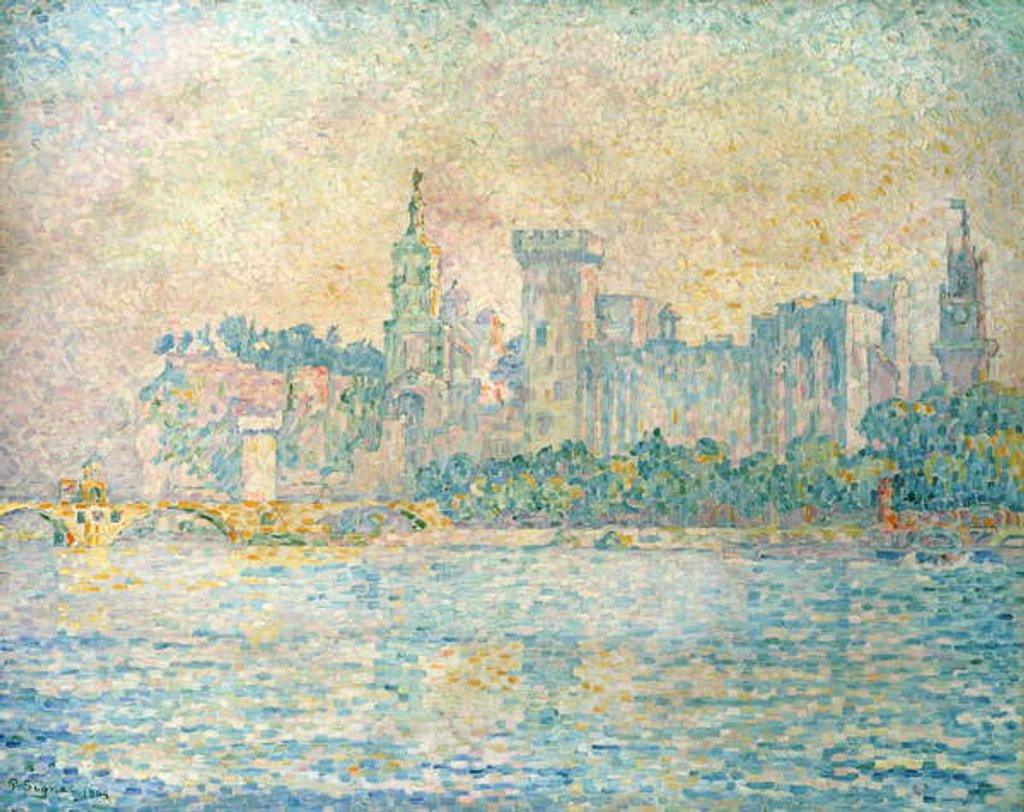 Detail of Avignon, Morning, 1909 by Paul Signac