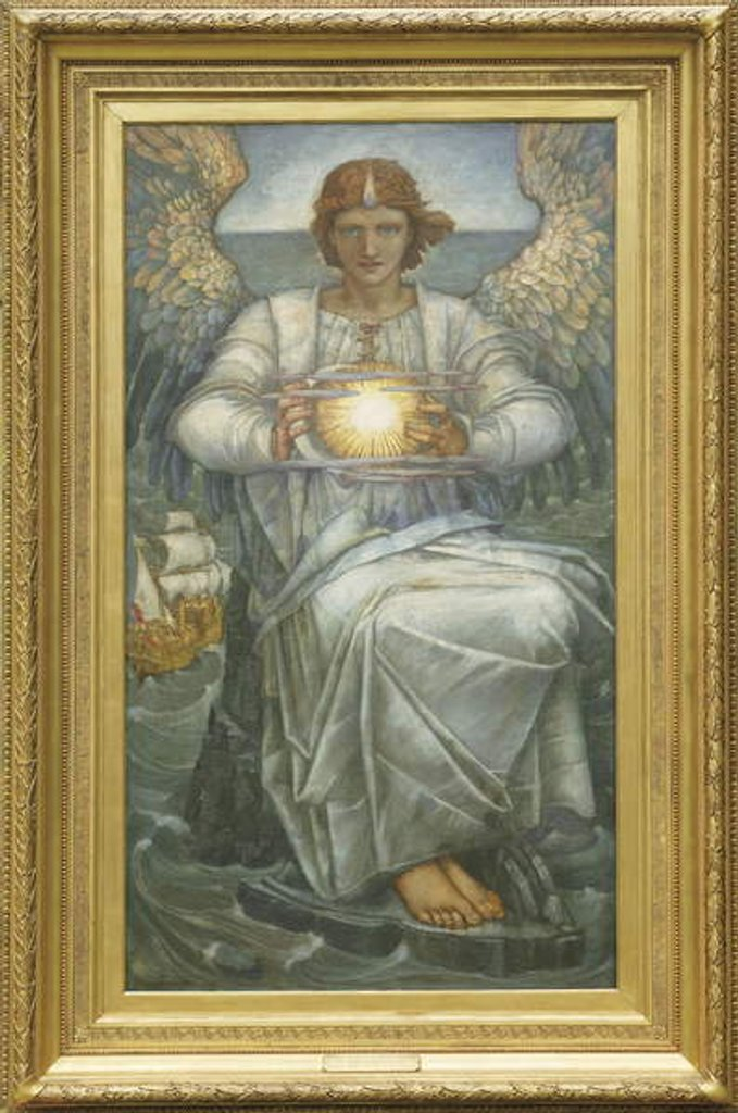 Detail of The Angel of the Sea, 1906 by Edward Reginald Frampton