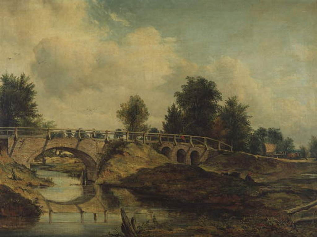 Detail of The Bridge over the River Stour by Frederick Waters Watts