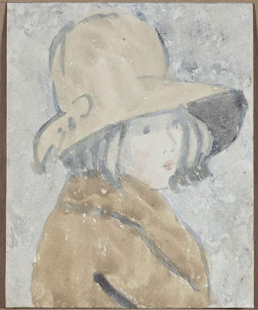 Detail of Study of a Little Girl in a Wide Brimmed Hat by Gwen John