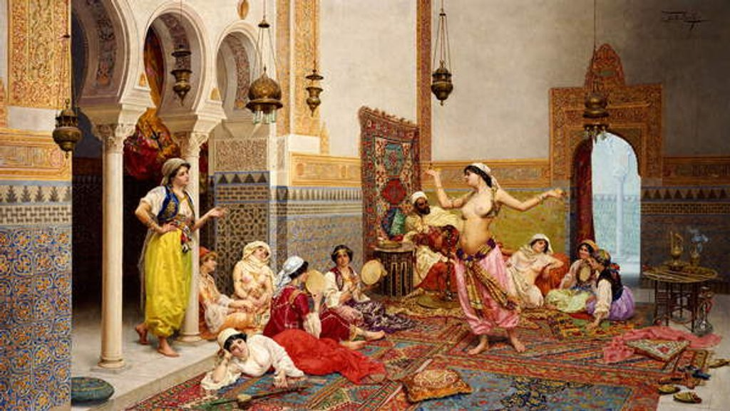 Detail of The Harem Dance by Giulio Rosati