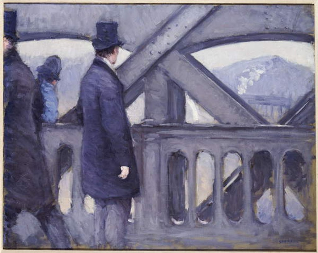 Detail of Le Pont de l'Europe, 1876 by Gustave Caillebotte