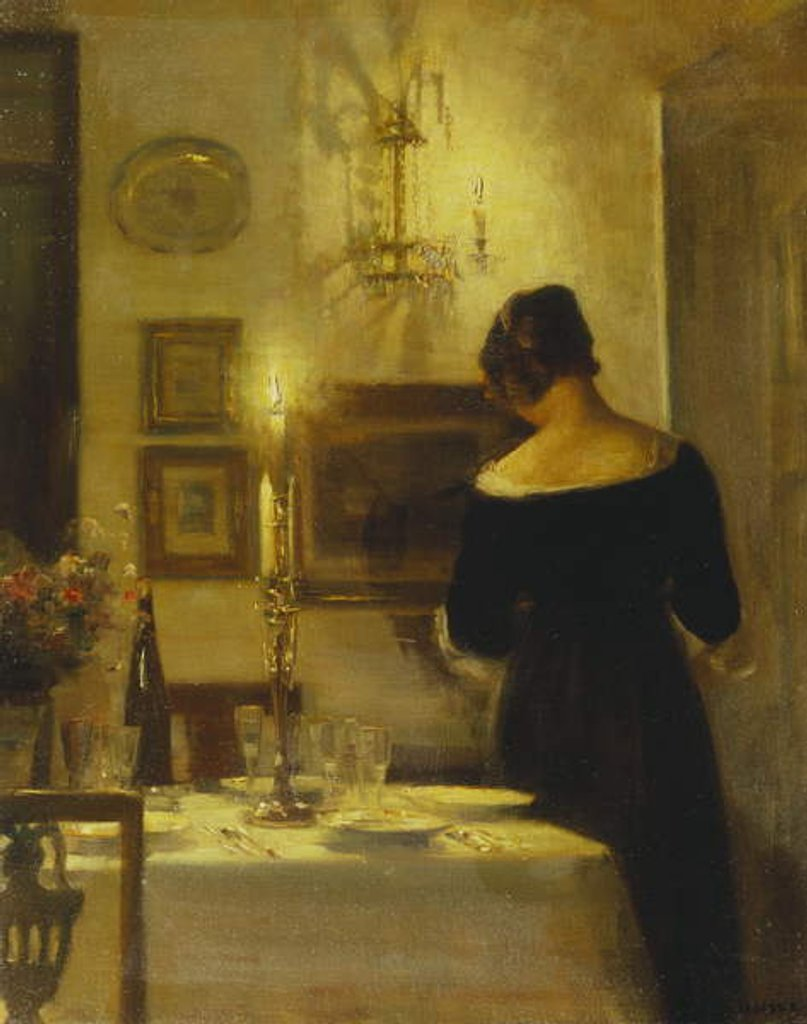 Detail of In the Dining Room by Carl Holsoe