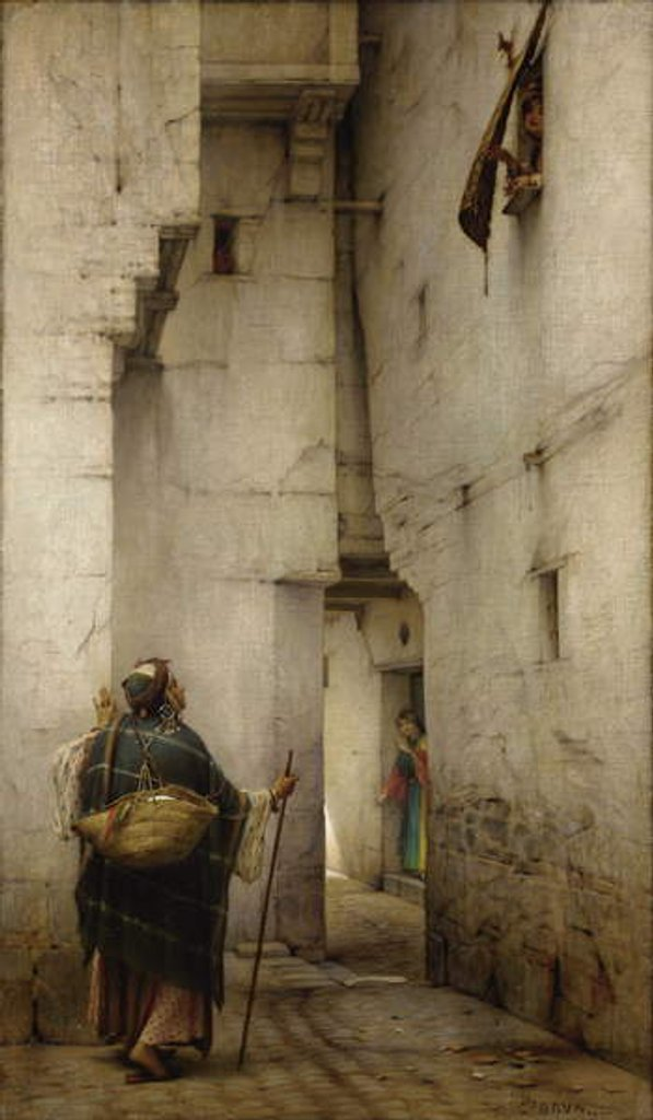 Detail of The Alley by Guillaume Charles Brun