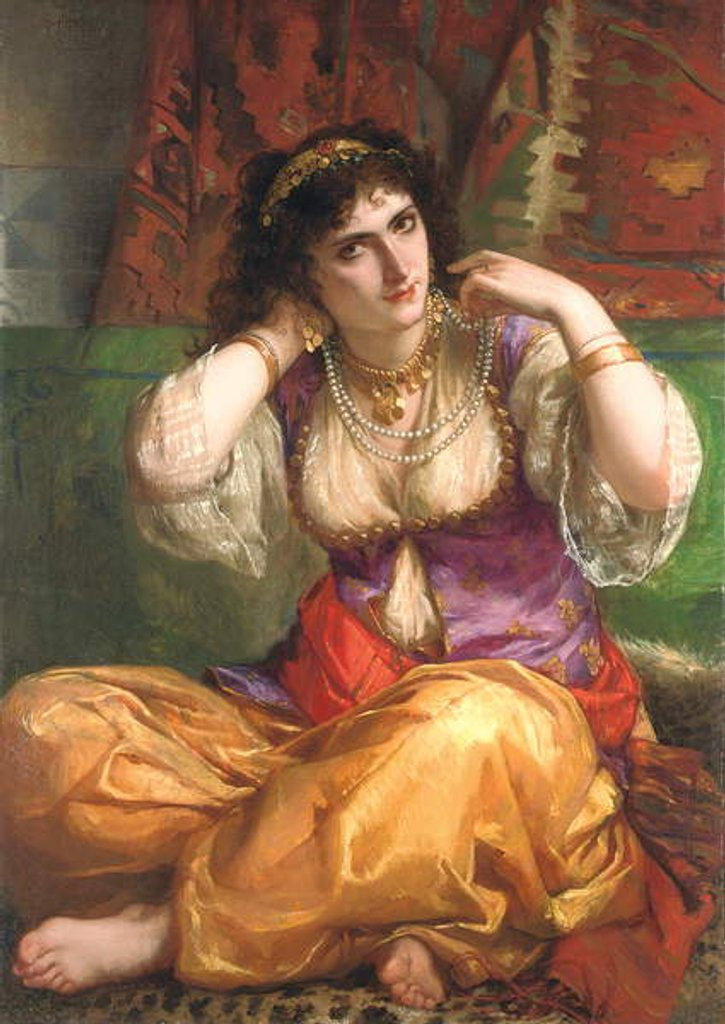 Detail of The Odalisque by Charles Louis Lucien Muller