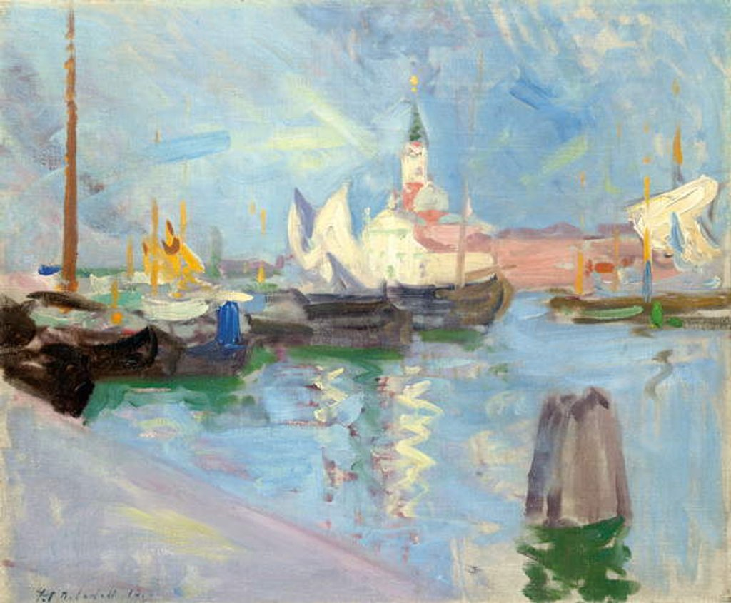 Detail of San Giorgio Maggiore, Venice, 1910 by Francis Campbell Boileau Cadell
