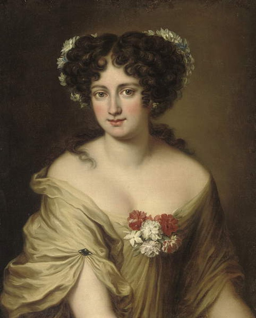 Detail of Portrait of Contessa Ortensia Ianni Stella by Jacob Ferdinand Voet