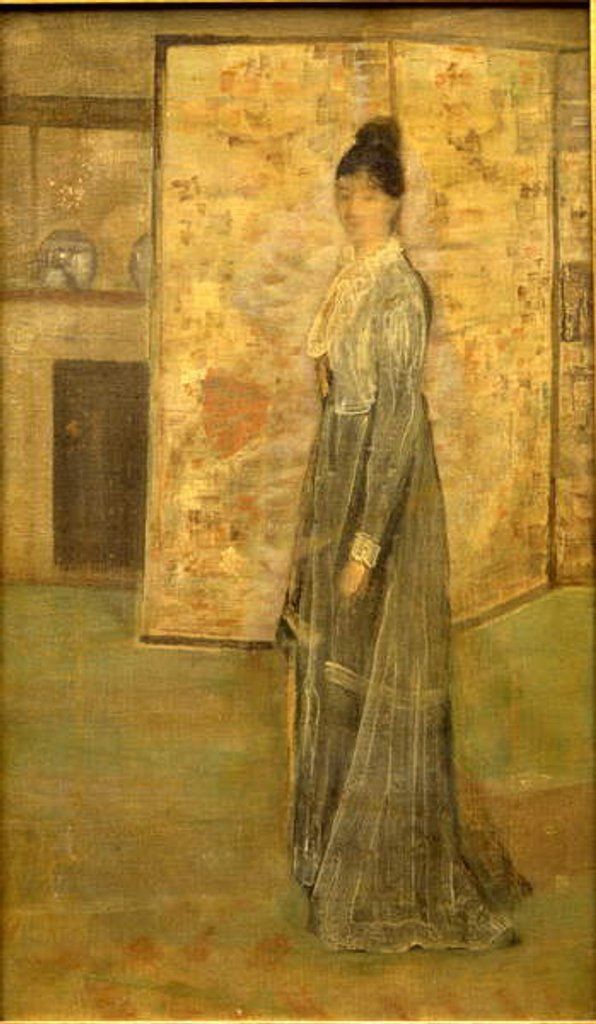 Detail of Arrangement in Flesh Color and Grey: The Chinese Screen by James Abbott McNeill Whistler