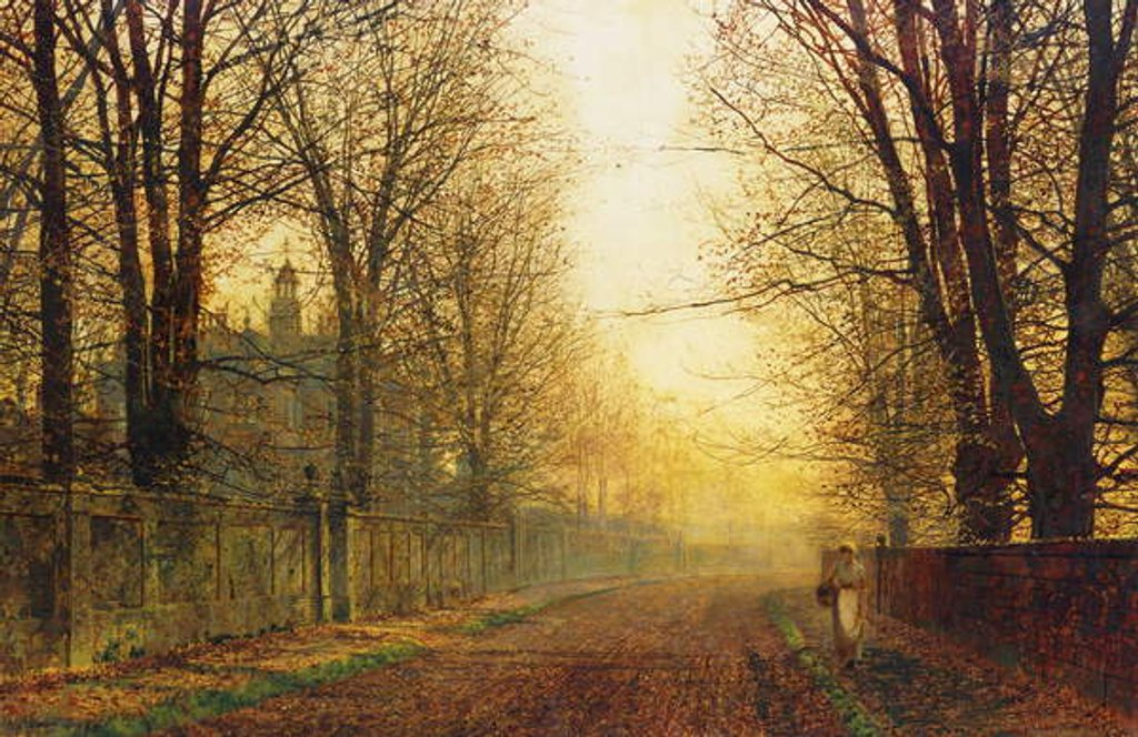 Detail of The Autumn's Golden Glory by John Atkinson Grimshaw