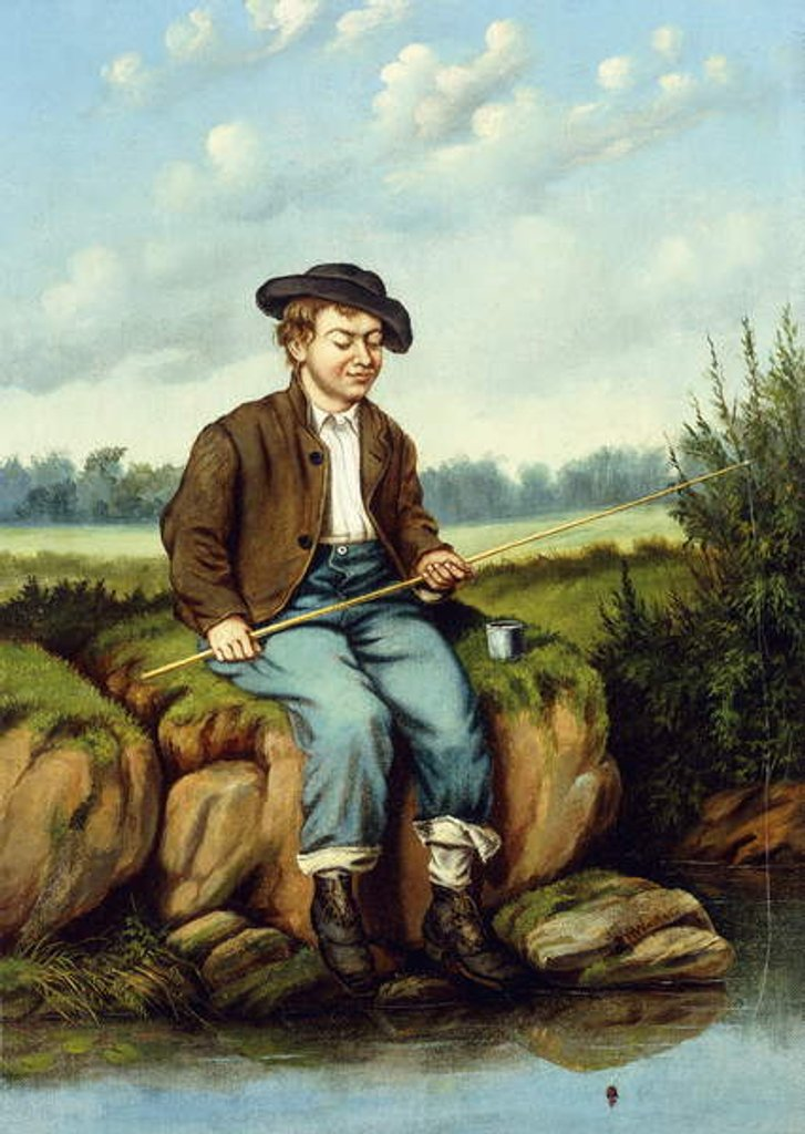 Detail of Boy Fishing by William Aiken Walker