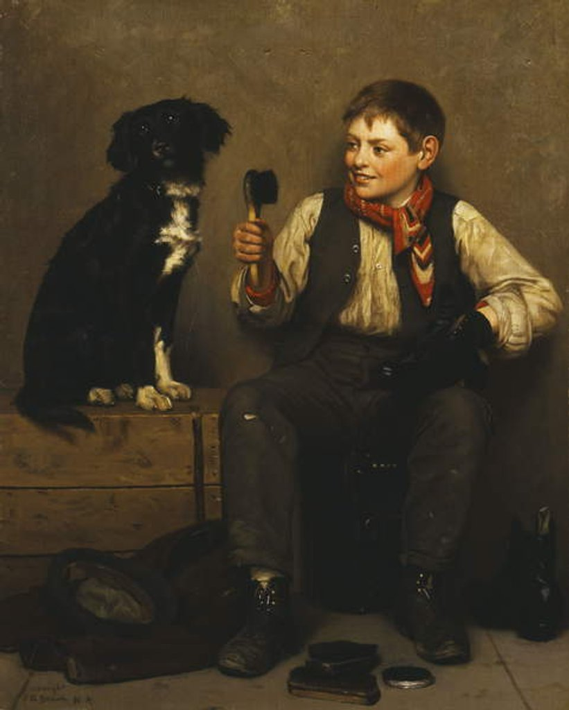 Detail of Can't Be Coaxed by John George Brown
