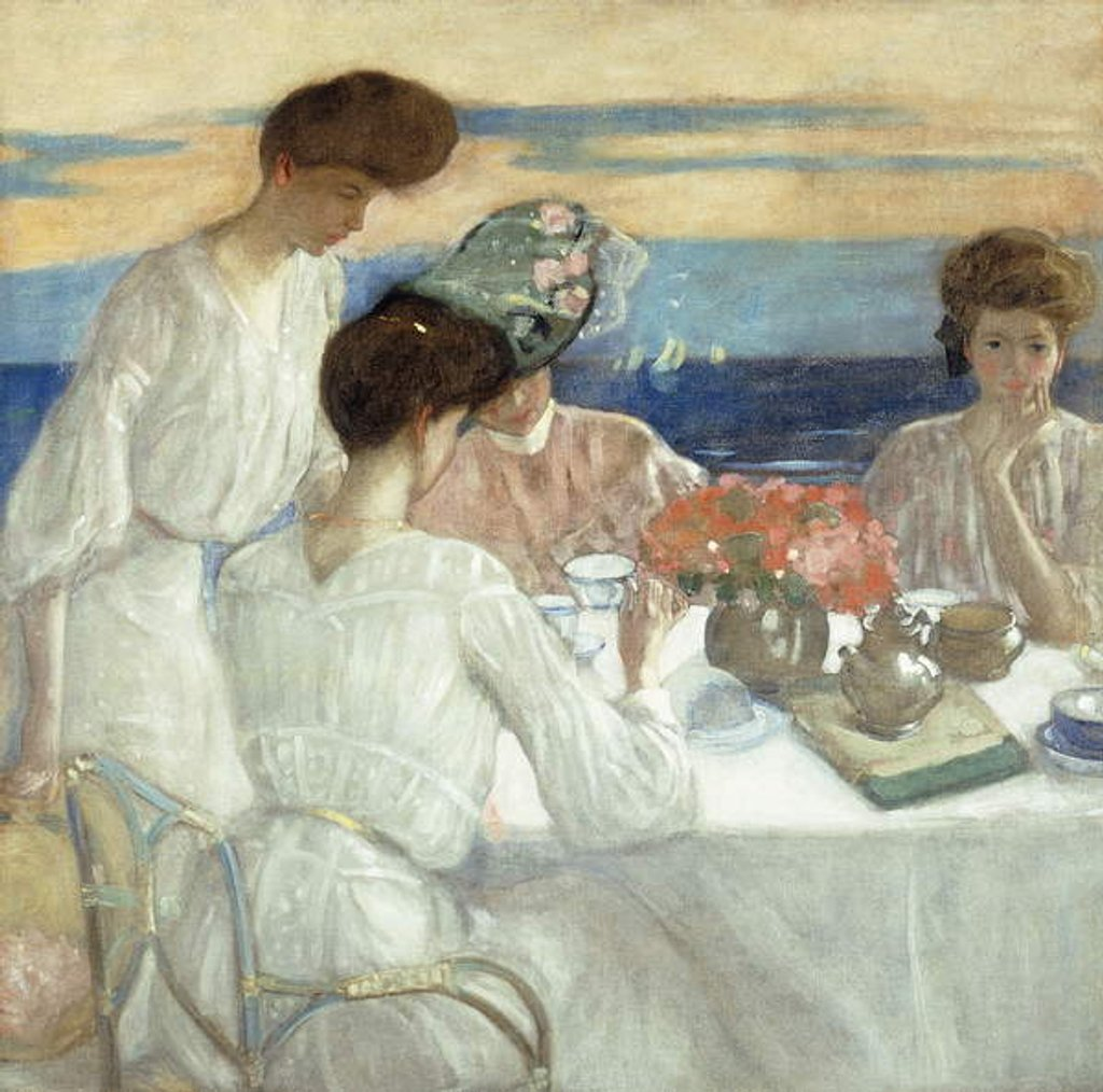 Detail of Afternoon Tea on the Terrace by Frederick Carl Frieseke