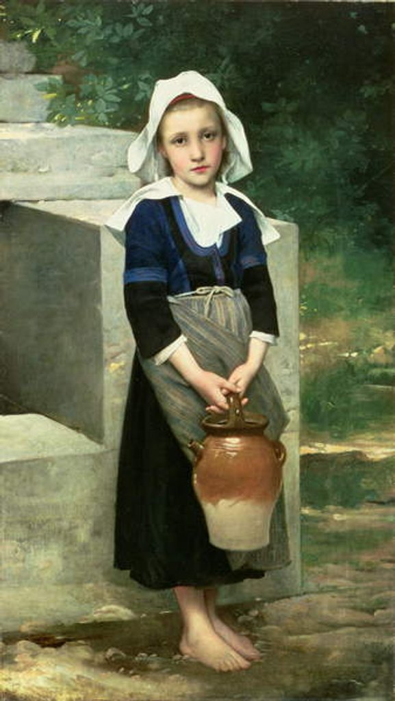 Detail of The Water Girl by Victor Thirion