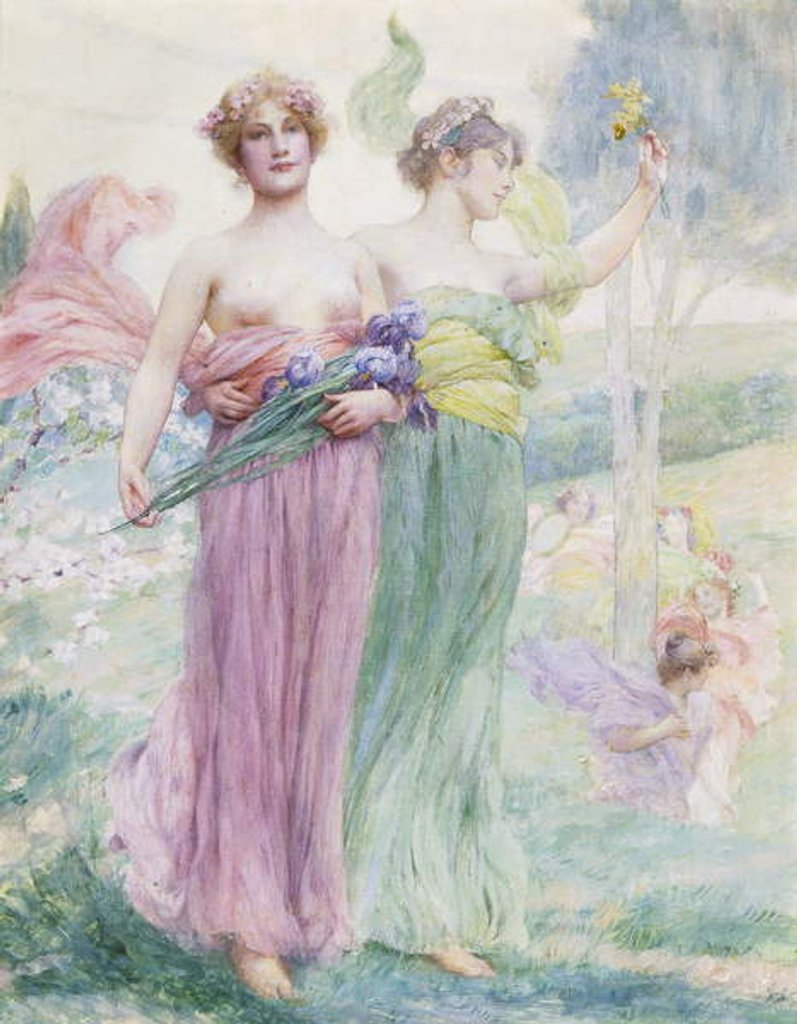 Detail of Floreal, c.1895-97 by Henry Siddons Mowbray