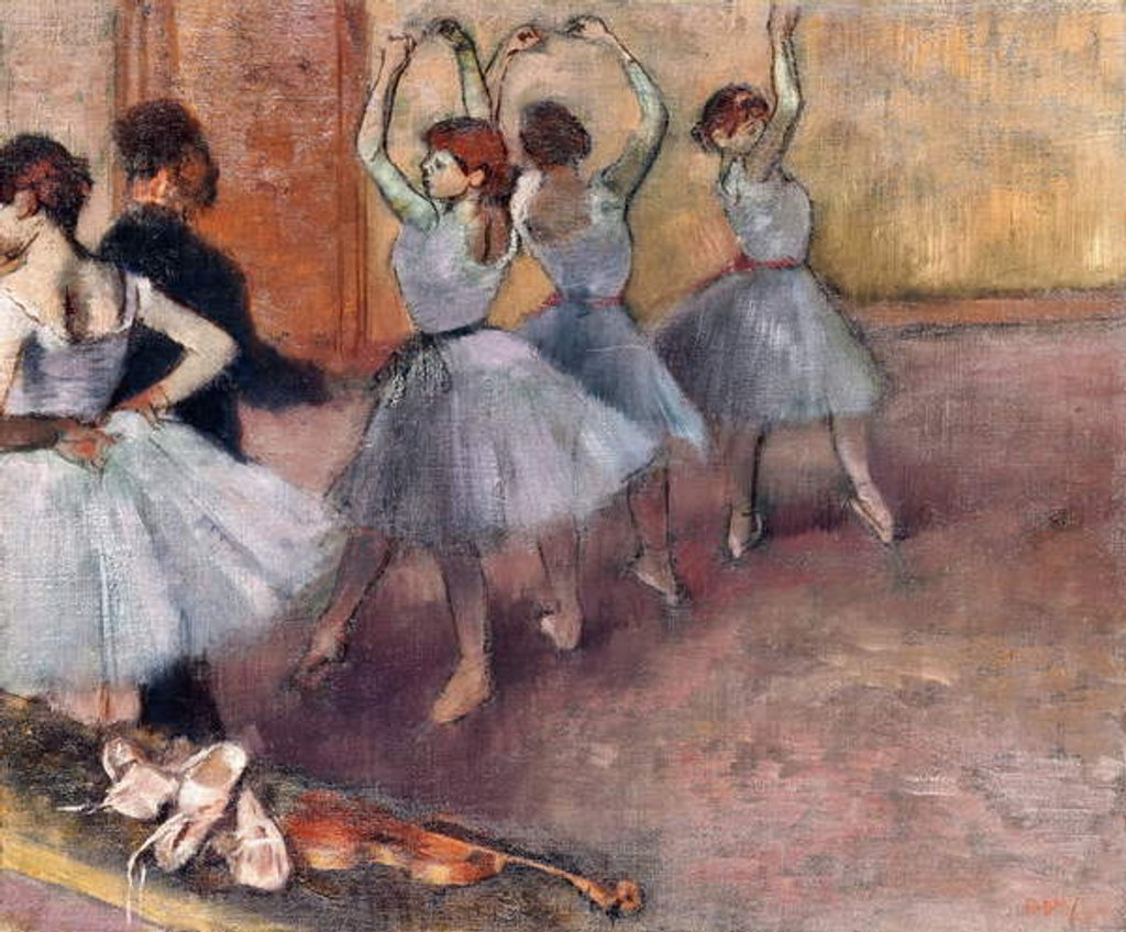 Detail of Blue-Toned Dancers, c.1882 by Edgar Degas